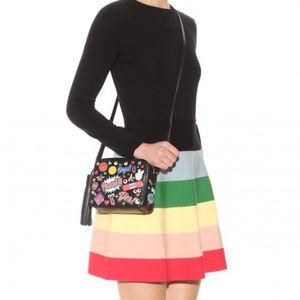 Red Valentino Rainbow Dress Size M 8 10